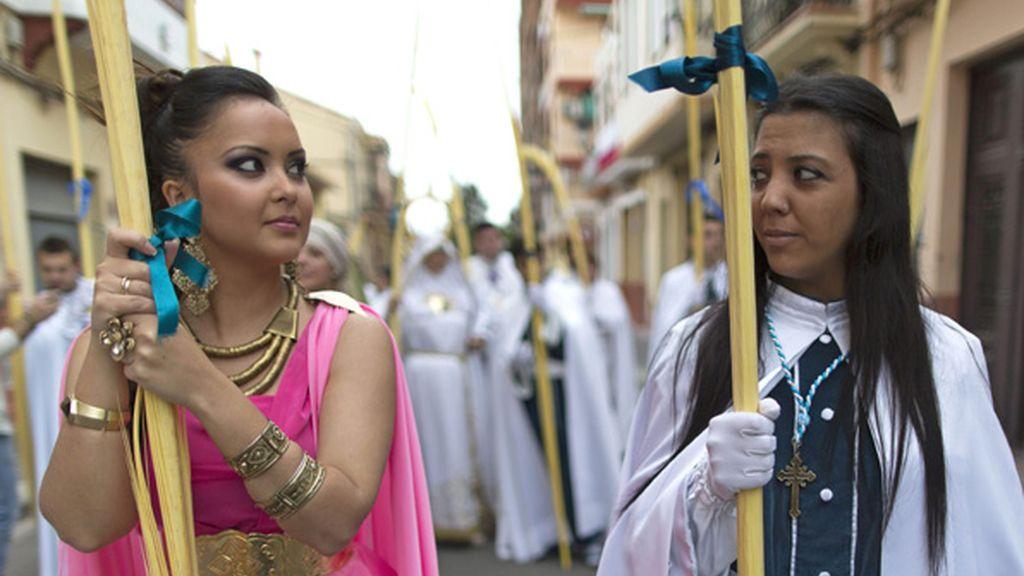 Salen a bendecir los ramos en la Semana Santa Marinera de Valencia