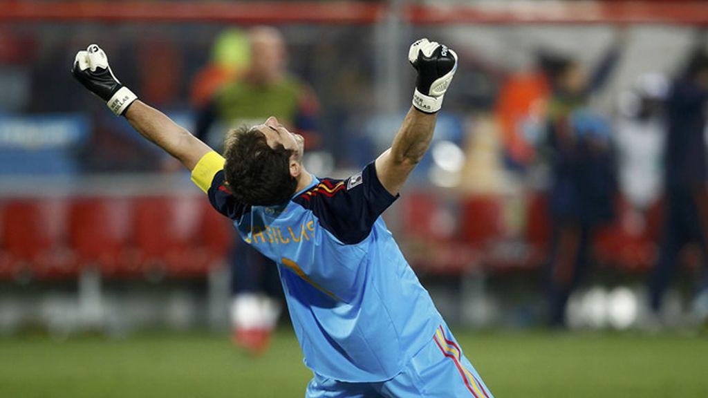 Casillas celebra el pase a semifinales