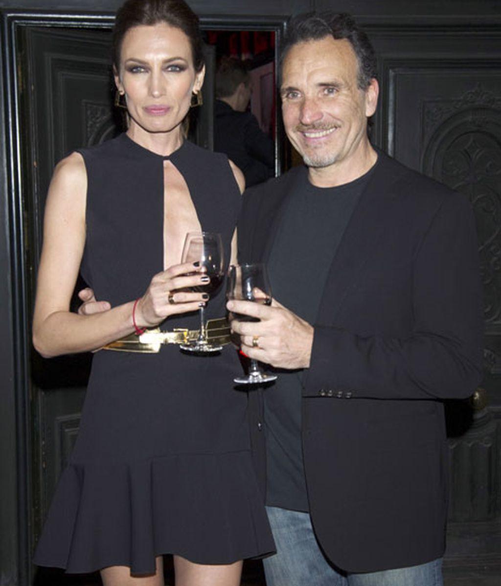 La modelo y su marido, el fotógrafo italiano Marco Severini