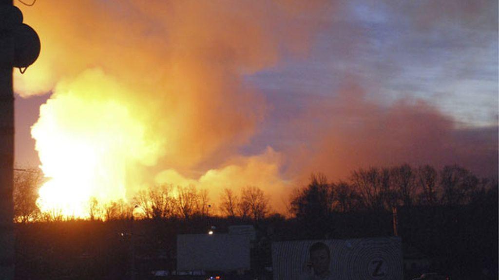 Cadena de explosiones en un arsenal en Rusia