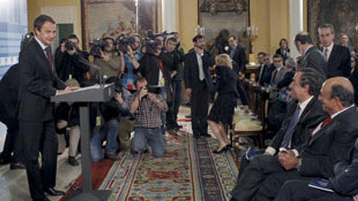 El presidente del Gobierno, José Luis Rodríguez Zapatero. Video: Informativos Telecinco