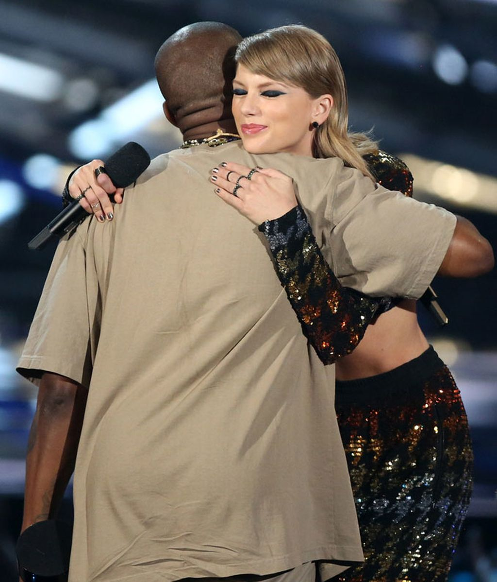El esperado abrazo entre Taylor Swift y Kanye West