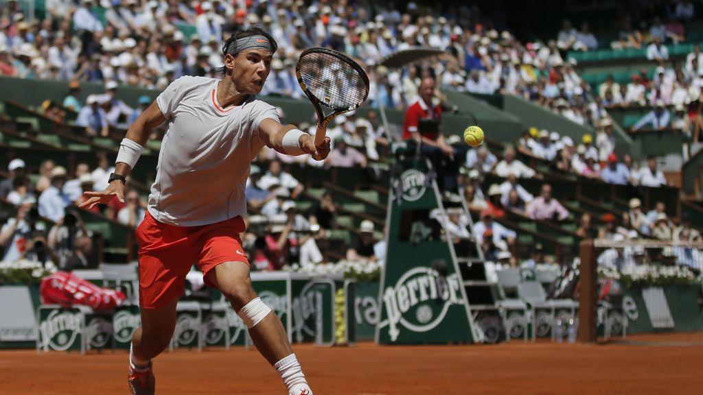 Rafa Nadal perdió el segundo set por 6-3.