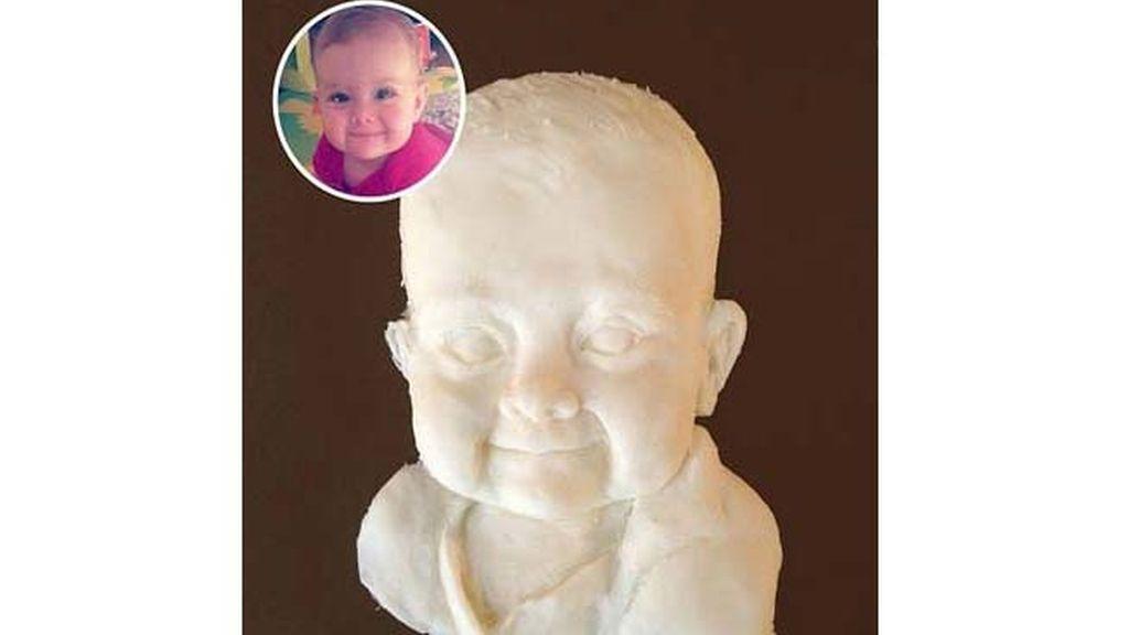 Esculturas hechas con crema de Oreo