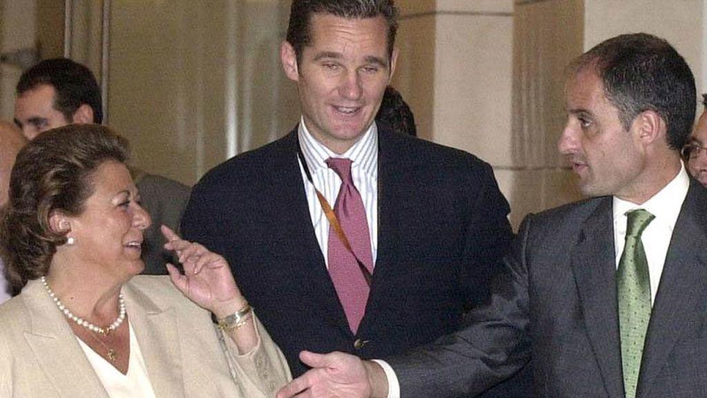 Rita Barberá, Iñaki Urdangarín y Francisco Camps en una imagen de archivo