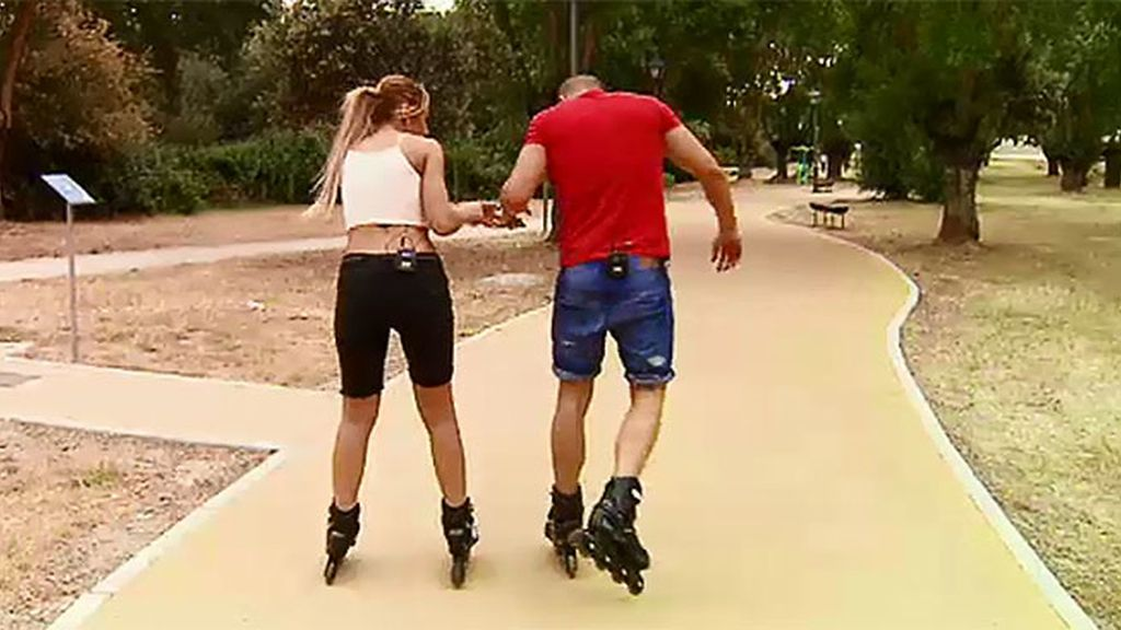 Con patines y a lo loco
