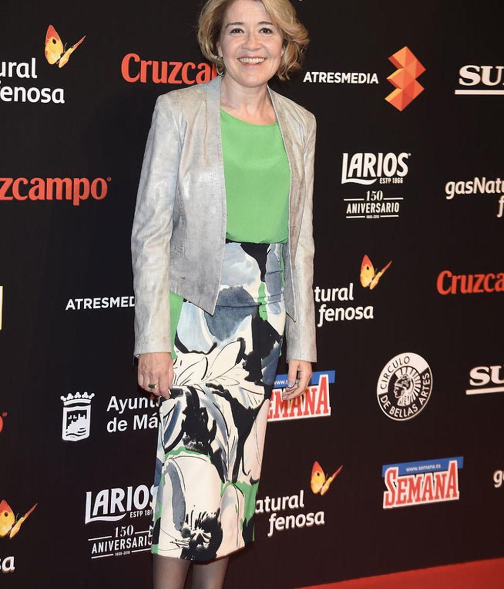 María Pujalte eligió estampados y color