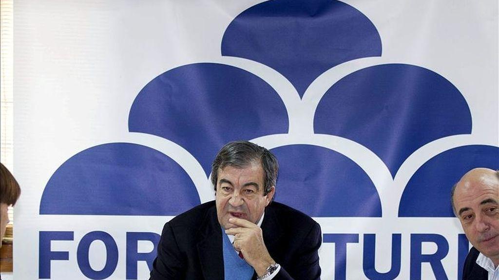 El presidente de Foro Asturias (FAC), Francisco Álvarez-Cascos, durante la primera reunión del comité directivo de FAC ayer en Oviedo. EFE