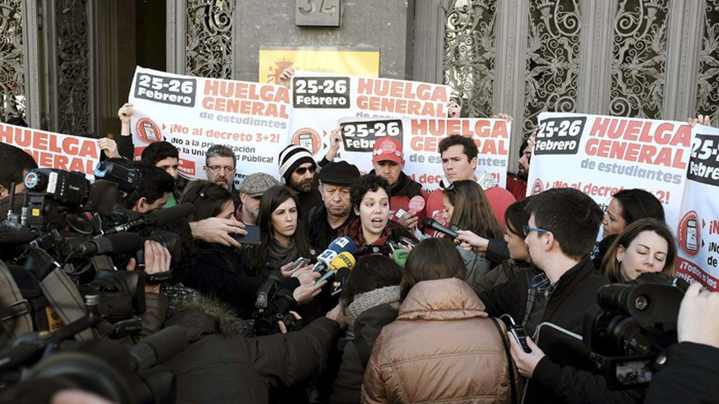 Huelga de estudiantes por la reforma de los grados universitarios