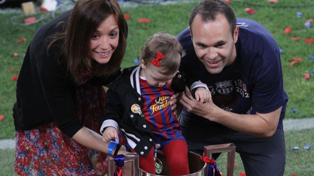 Valeria nació 9 meses después de que su padre ganase el Mundial