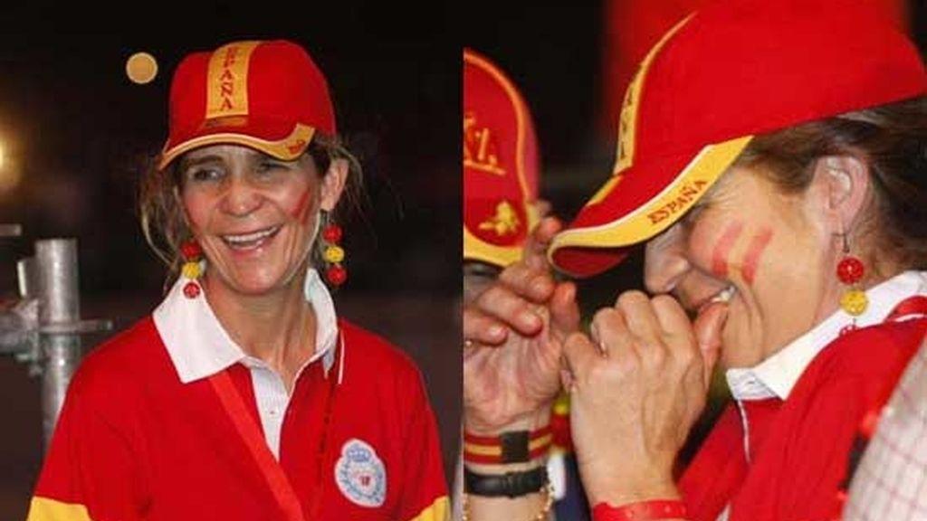 La Infanta Elena, en la fiesta de La Roja
