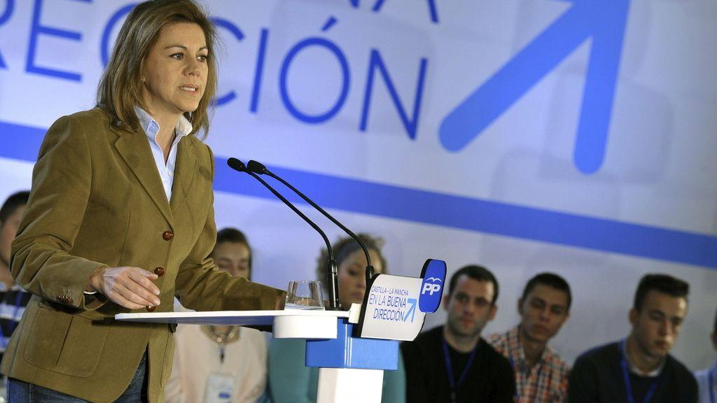 """Cospedal afirma que la integridad y la unidad de España """"está garantizada"""""""