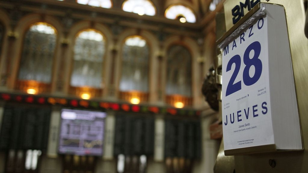 La bolsa de Madrid, el día 28 de marzo. Foto: Efe