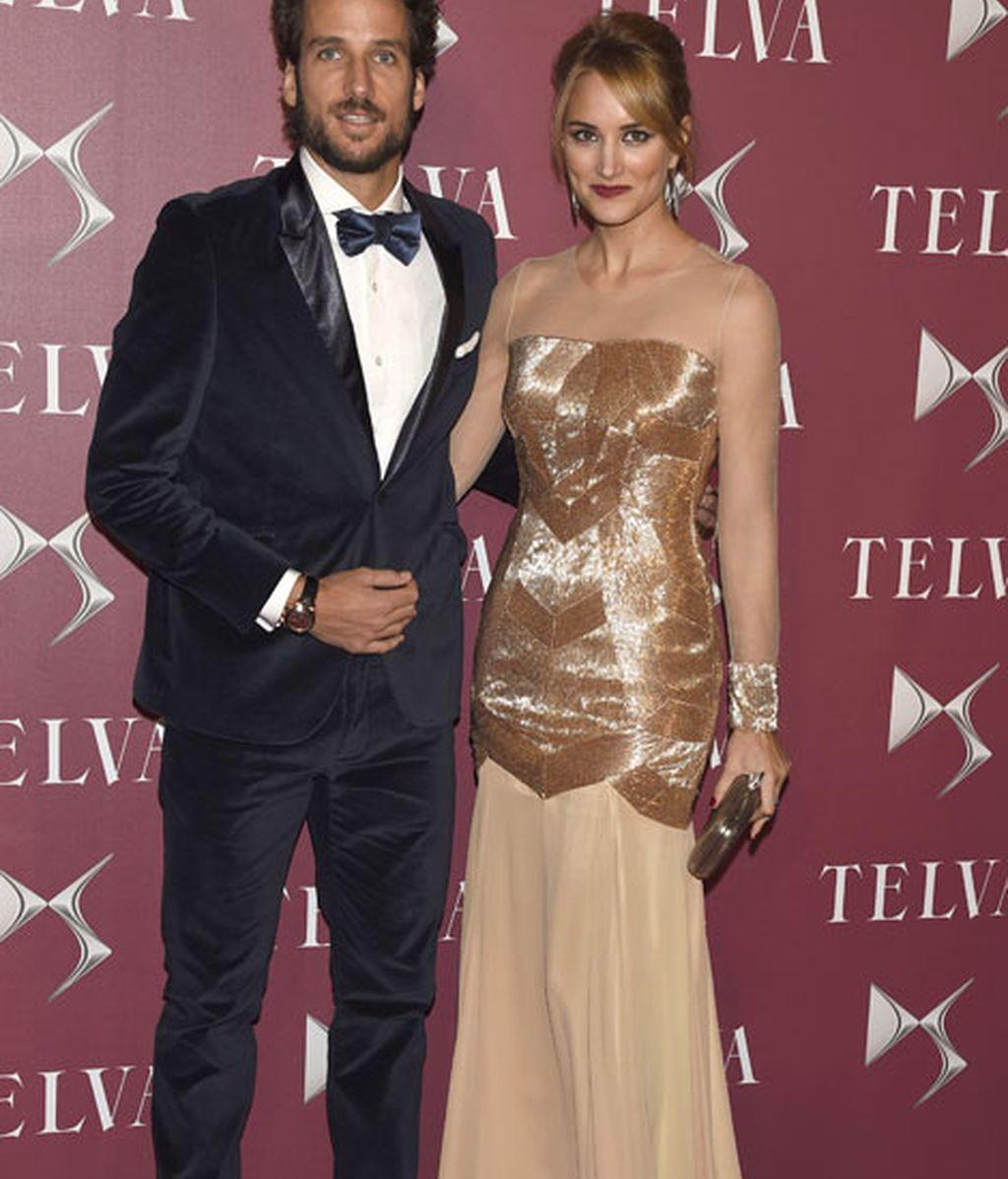 Alba Carrillo y Feliciano López posaron juntos en el 'photocall'