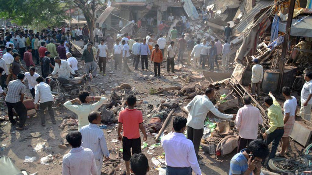 Medio centenar de muertos por una explosión en un restaurante de Madhya Pradesh