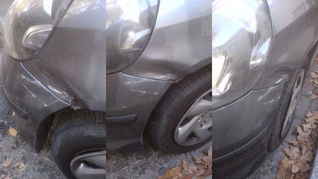Un testigo solidario deja una nota al conductor de un coche accidentado