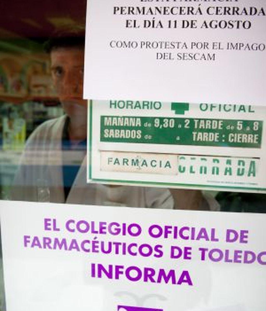 Las farmacias de Castilla-La Mancha fueron a la huelga