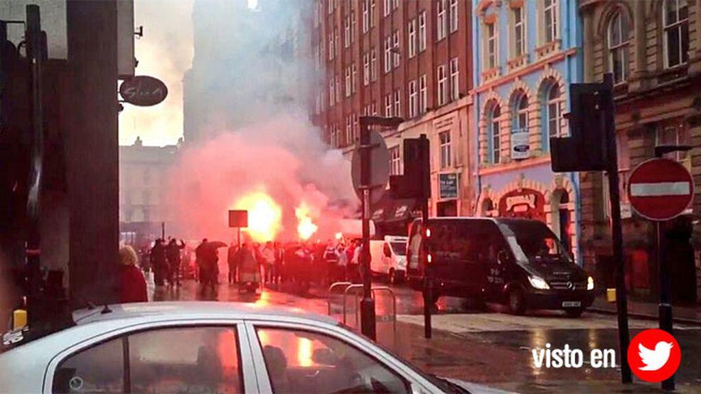Los radicales turcos provocaron disturbios antes del partido de Europa League