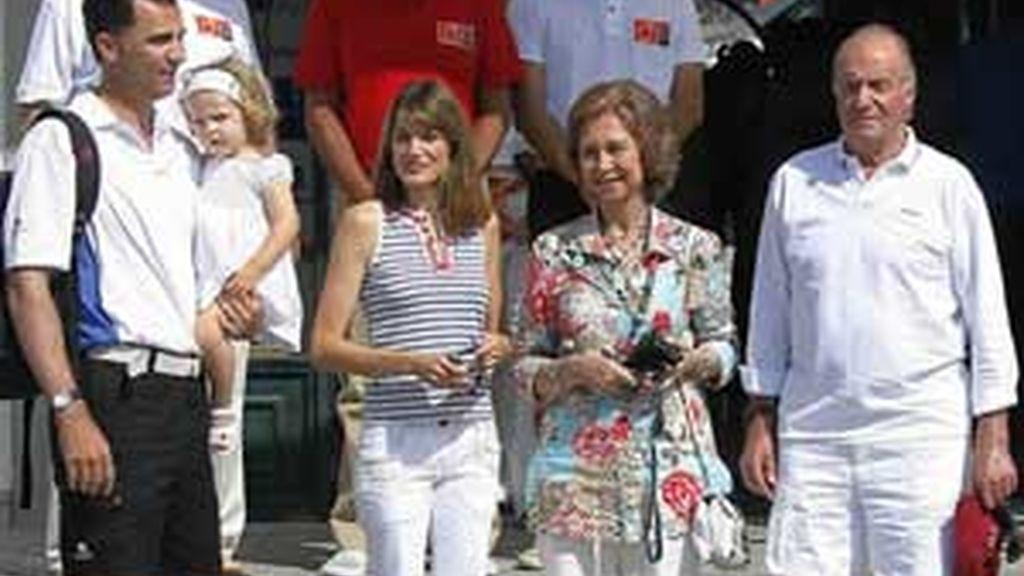 La Familia Real de vacaciones de Semana Santa en Mallorca, en una imagen de archivo. Foto: EFE