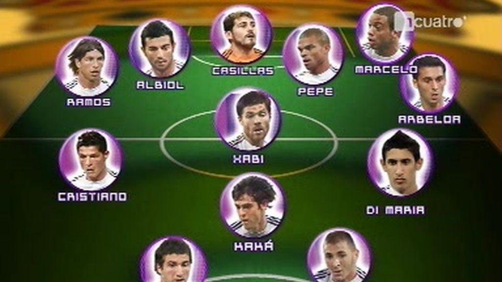 El 11 de lujo del Madrid...