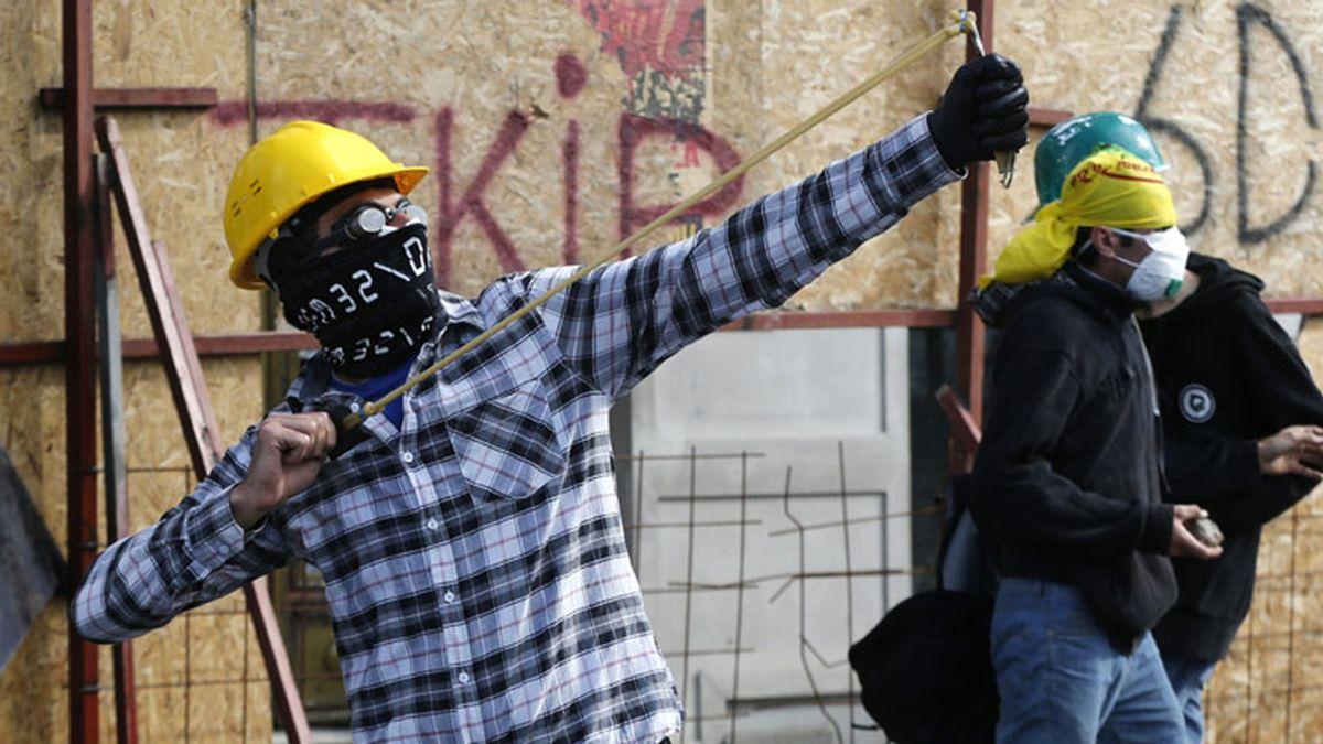 Plaza Taksim, escenario de guerra en Turquía