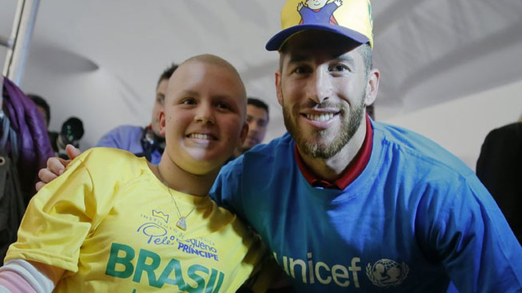 Sergio Ramos colabora con Unicef en Brasil