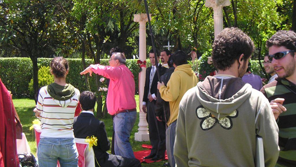 La boda detrás de las cámaras