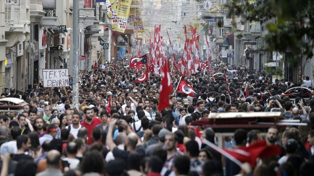 Tercer días de protestas en Turquía. Foto: EFE