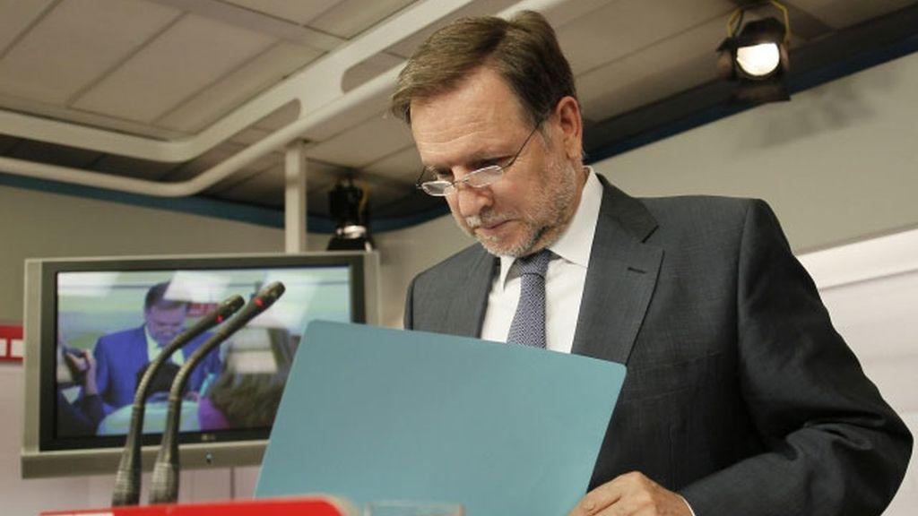 Imagen de archivo de Marcelino Iglesias tras una reunión de la Ejecutiva del PSOE.
