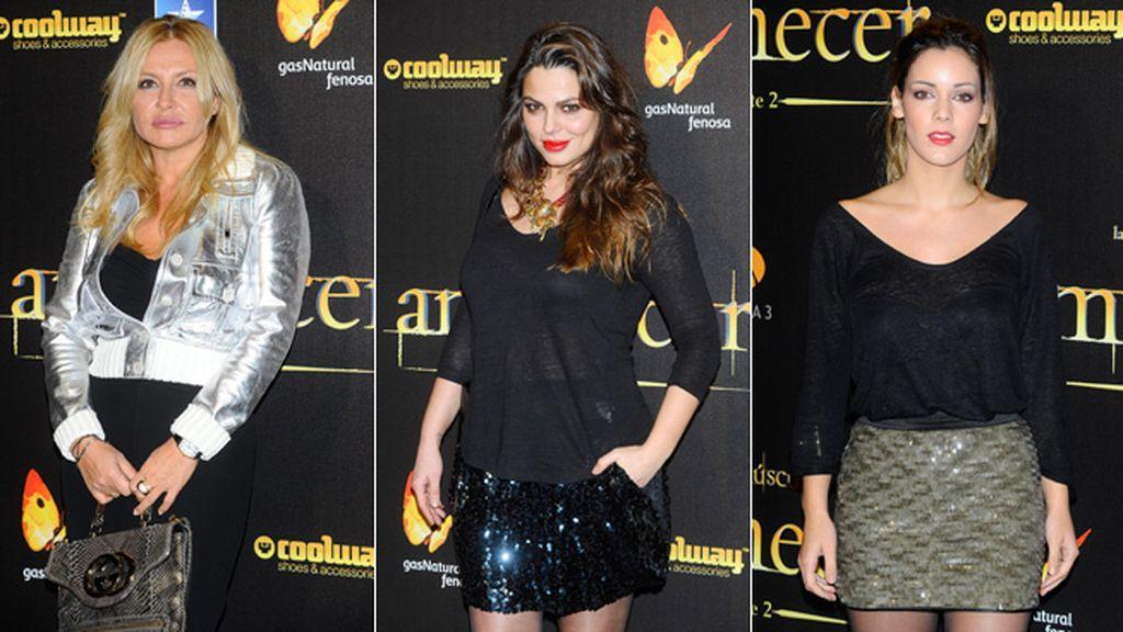 Cristina Tárrega, Marisa Jara y Alejandra Onieva, brillando con lentejuelas