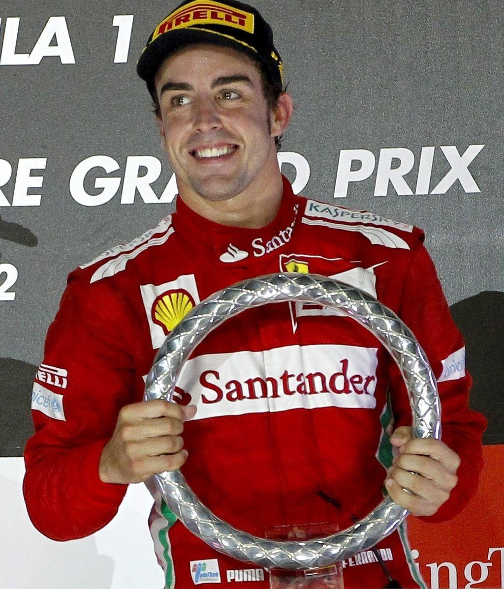 Alonso, GP Singapur. Foto: EFE