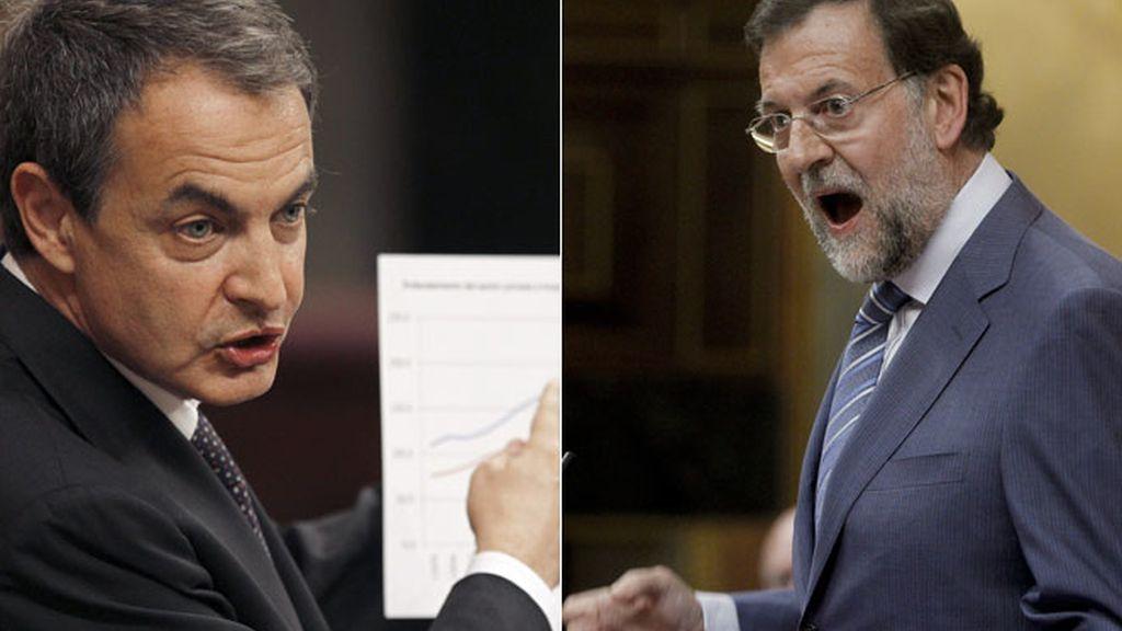 Duro debate entre Zapatero y Rajoy
