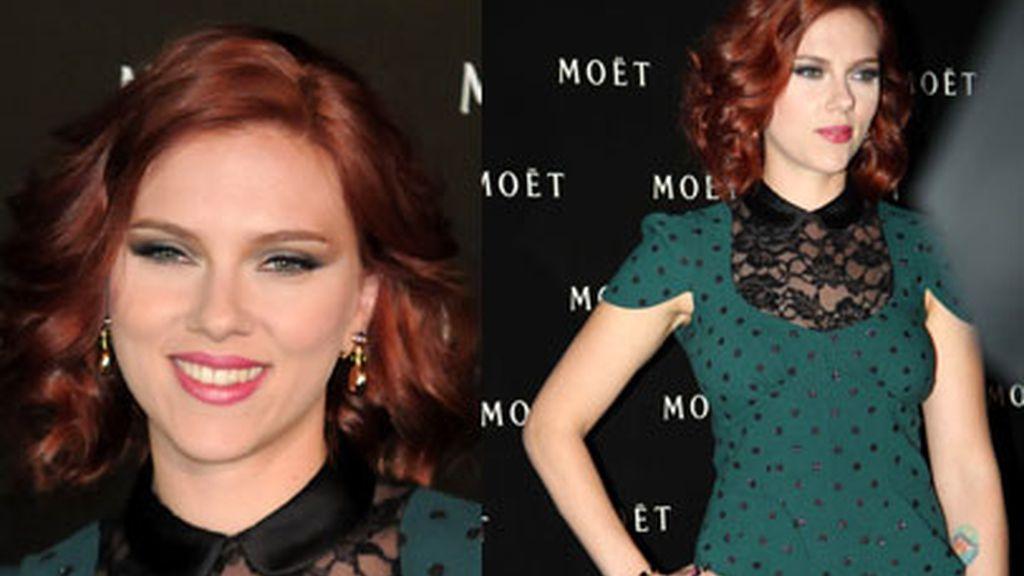 Scarlett Johansson, del rubio platino al rojo caoba