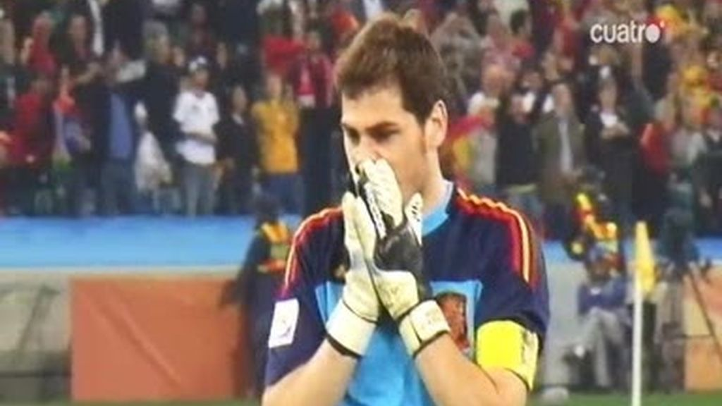 La voz de Casillas durante la final frente a Alemania