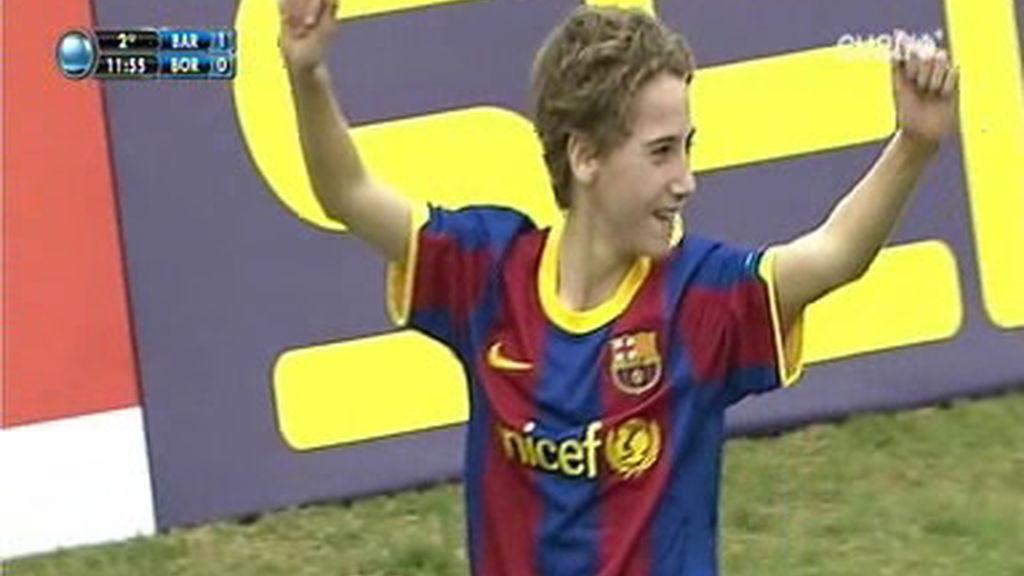 Javi Ruiz marca el segundo para el Barcelona