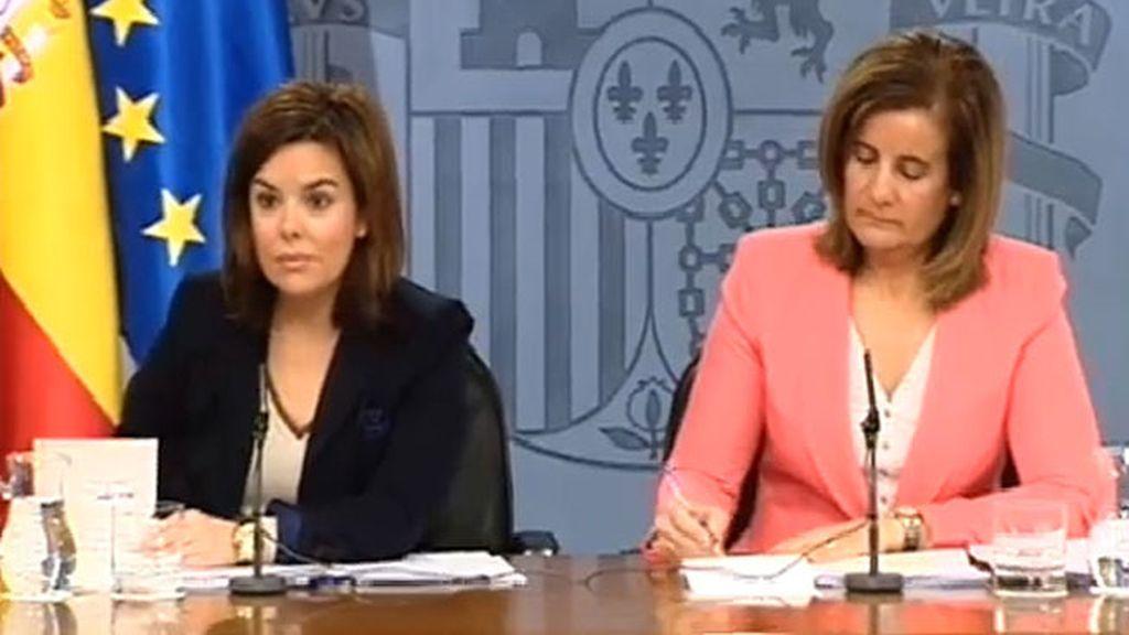 Fátima Báñez y Soraya Sáenz de Santamaría