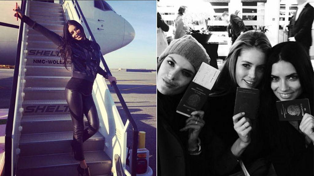 Adriana Lima, espectacular en el aeropuerto