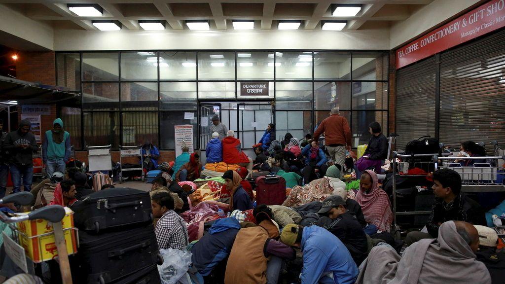 Caos en el aeropuerto de Katmandú