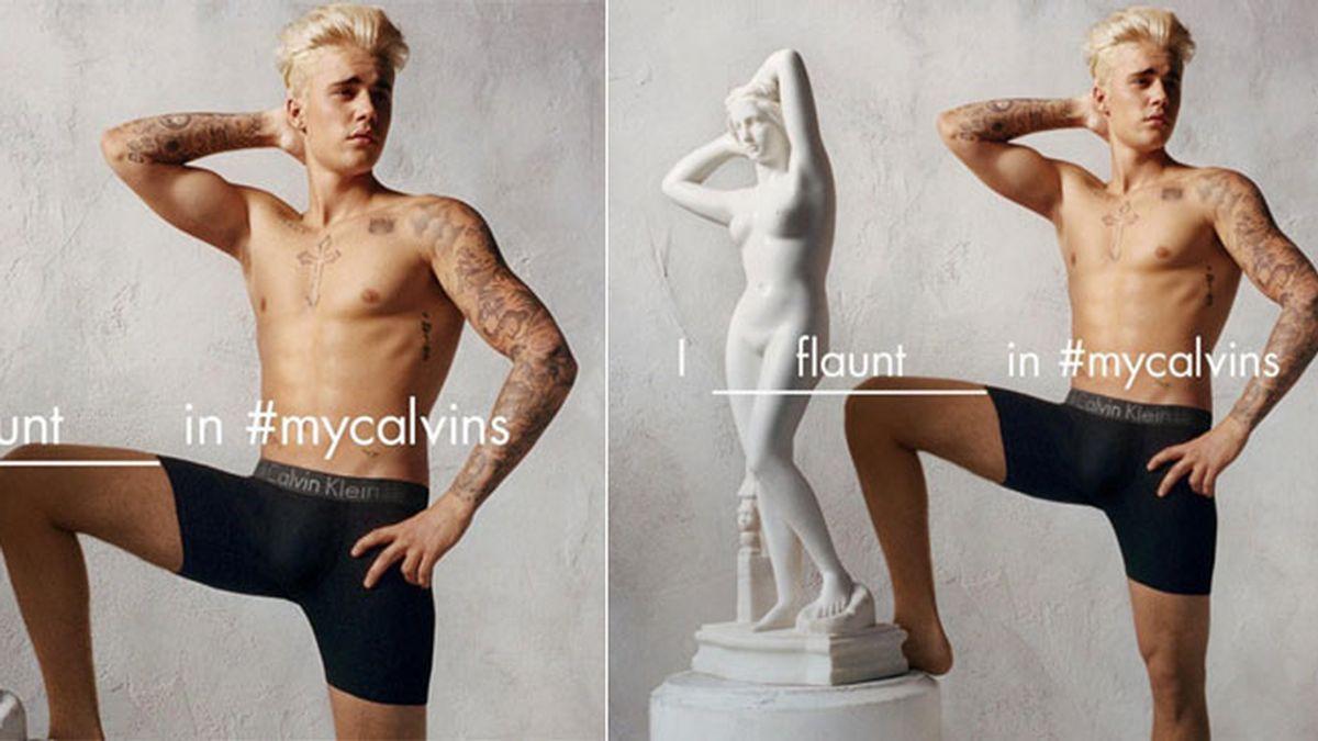 Justin Bieber vuelve a posar en ropa interior