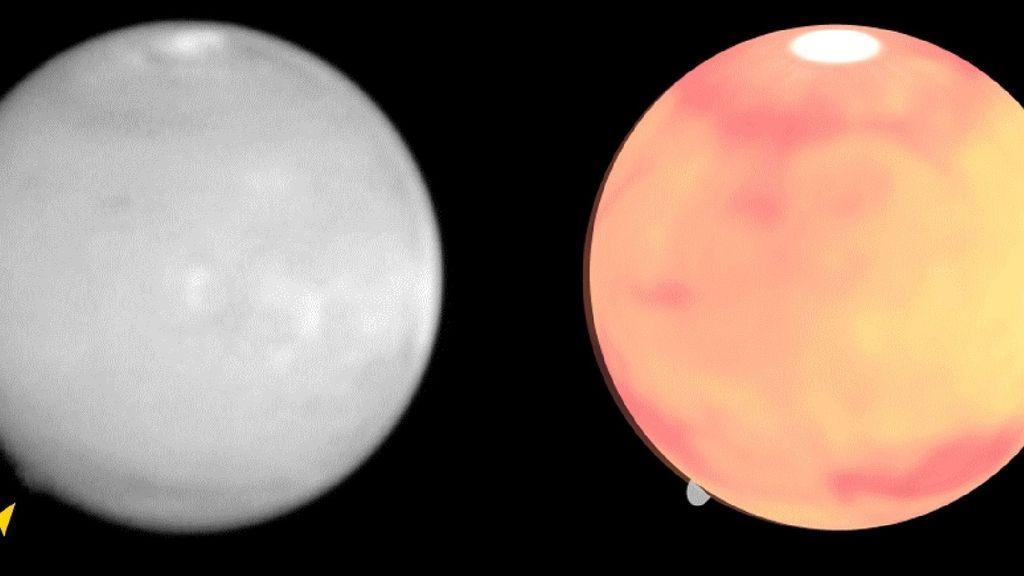 Descubren una insólita nube de 500 kilómetros en Marte
