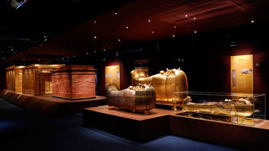Vista de una de las partes de la exposición. Foto: Tutankhamón: la tumba y sus tesoros.
