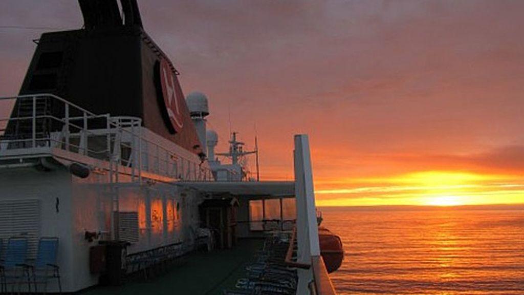 La luz de invierno, con Cuatro y Hurtigruten