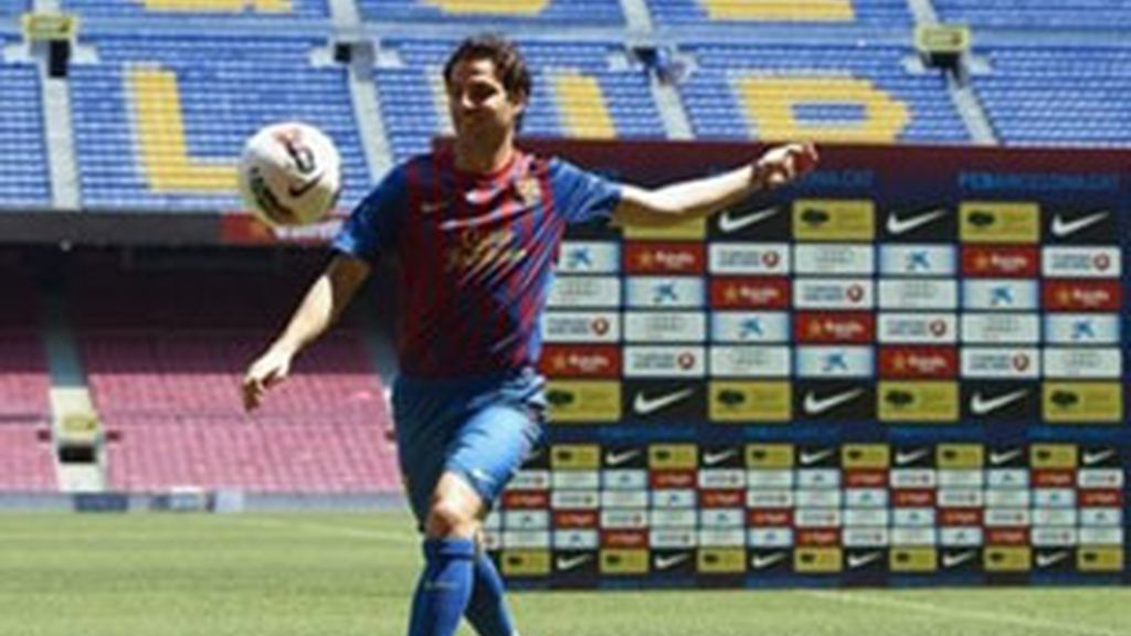 Cesc Fabregas, jugador del F.C. Barcelona. Foto: AP