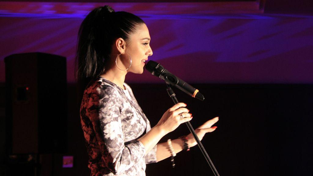 Anita Soul, popular cantante eslovaca, actuó durante la cena
