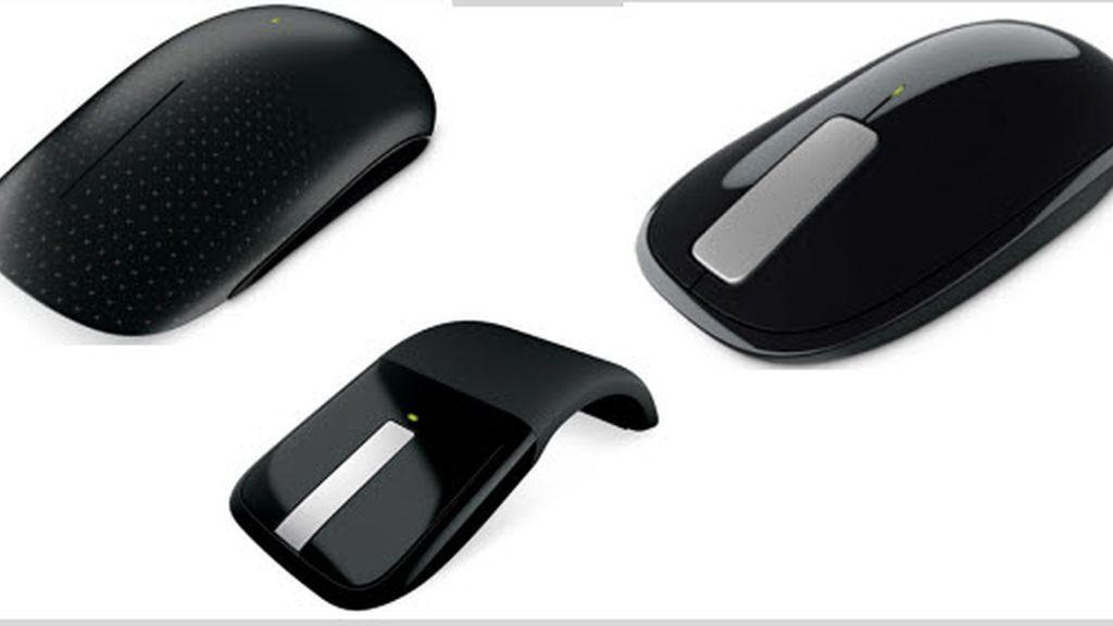 Los tres nuevos modelos: el Touch Mouse, el Explorer Touch y el Arc Touch.