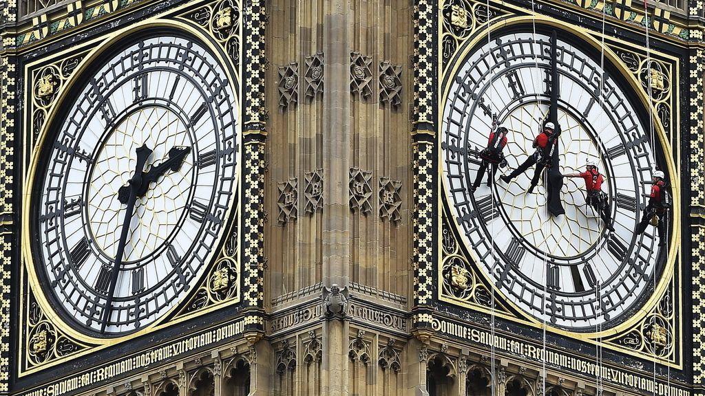 Las agujas del 'Big Ben' se detienen cuatro días para permitir su limpieza