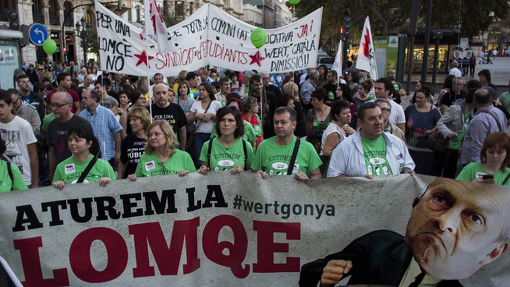 Manifestación de estudiantes en Valencia