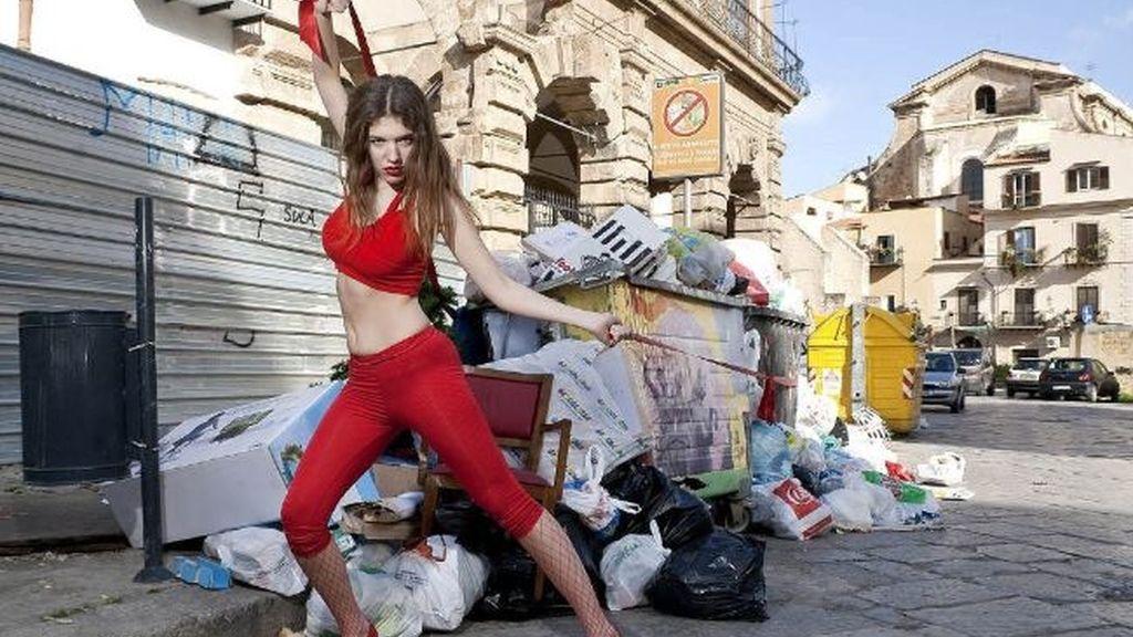 Protesta fashion en Palermo