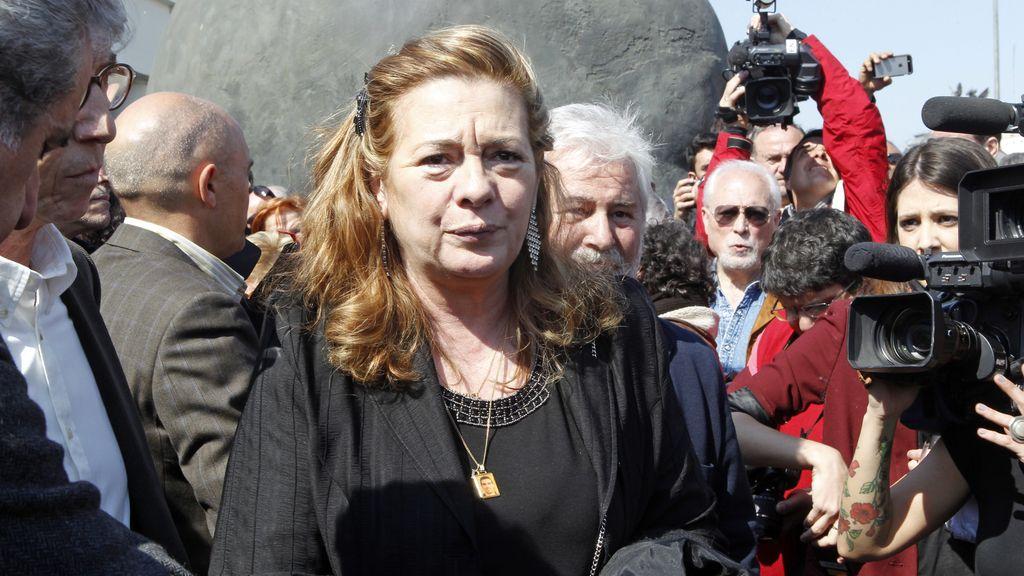 Pilar Manjón en el homenaje de Atocha