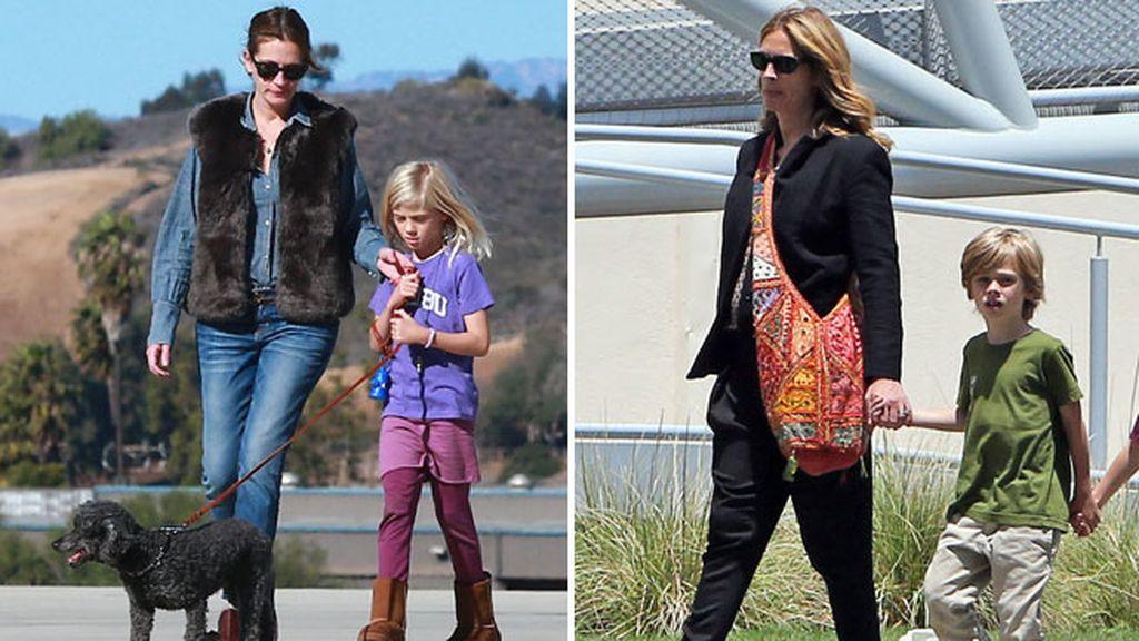 Julia Roberts es madre de los mellizos Hazel y Phinnaeus y de otro niño